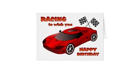Car Birthday Cards For Race Car Birthday Card Zazzle