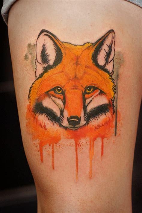 fox head tattoo fox on hip tattooimages biz