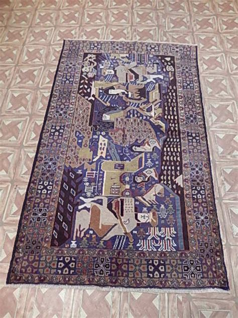 front room rugs 4x6 180x130 cm front room knotted baluch traditional carpets rug