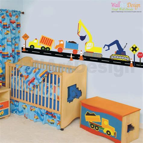 wall stickers city vinyl wall decal boys construction vehicle set vinyl wall