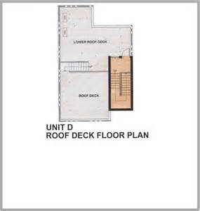 Deck Floor Plan 205 Santolan By Rockwell Land Townhouse For Sale In Quezon