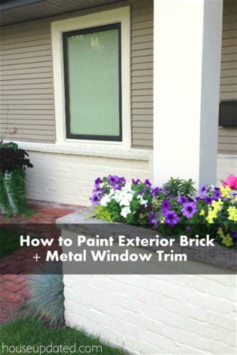 how to paint brick and how to paint metal window trim - How To Paint Exterior Window Trim