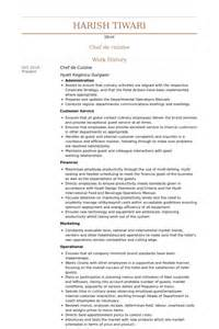 demi chef de partie resume sle resume format for chef de partie augustais