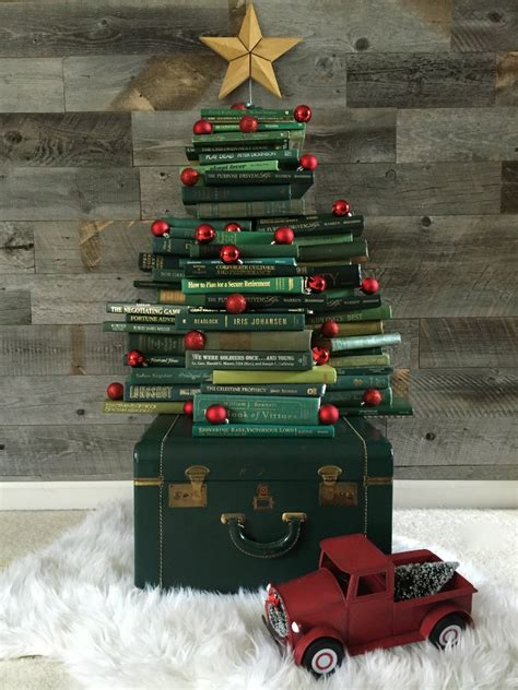 vintage book christmas tree a blissful nest