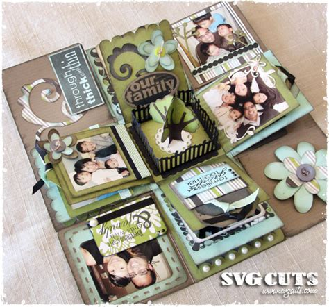 explosion box tutorial scrapbooking quot our family quot explosion box by thienly svgcuts com blog