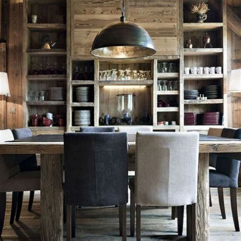 Rustic Industrial Dining Room by 36 Comfy Chalet Dining Rooms And Zones Comfydwelling