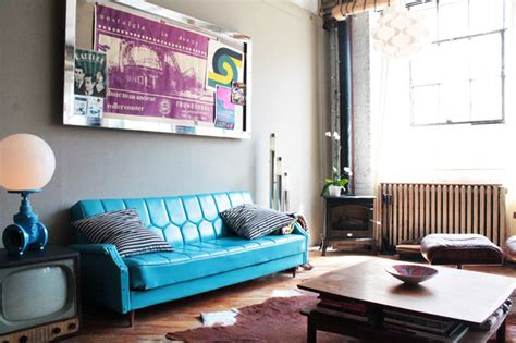 funky living room my houzz vintage finds in funky montreal artists loft