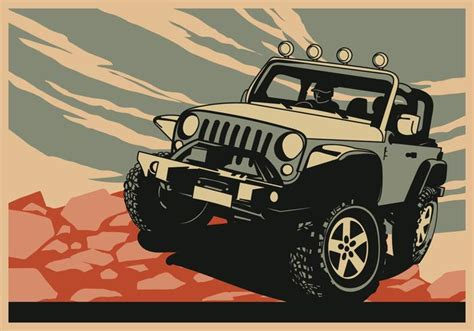 jeep adventure logo adventure jeep free vector stock graphics