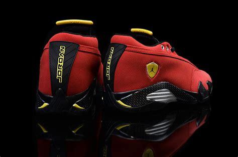 retro ferrari shoes air jordan 14 retro ferrari challenge red suede black