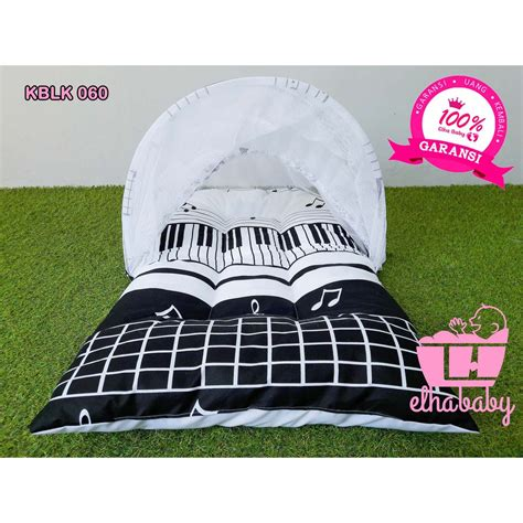 Set Kasur Bayi Lucu Zigzag Crown promo kasur bayi lipat lucu unik murah set kelambu motif bonus tas perlengkapan baby baru