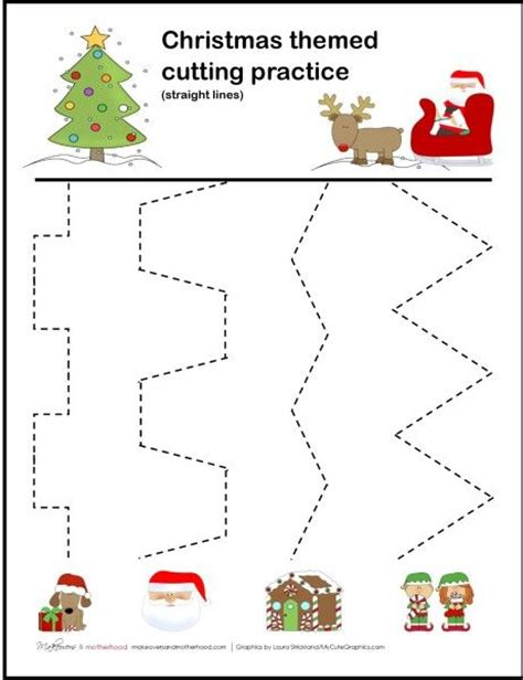 tracing cutting printable worksheets christmas tracing worksheets for preschool free