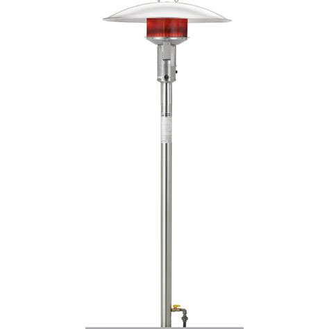 Sunglo Patio Heaters Sunglo 50000 Btu Gas Post Mount Patio Heater With Standing Pilot Stainless Steel
