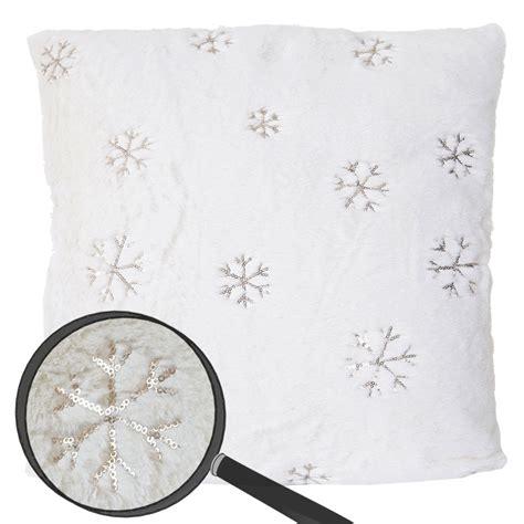 zierkissen flauschig deko kissen schnee sofakissen zierkissen mit f 252 llung