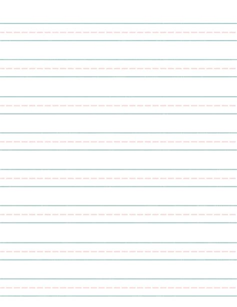 printable handwriting paper writing paper template for third graders kindergarten