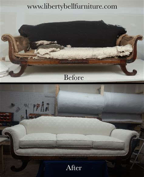 how to reupholster an antique sofa liberty bell furniture repair upholstery antique
