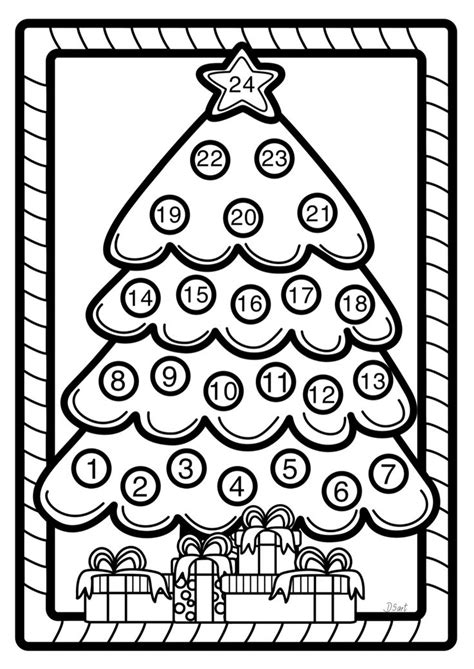 christmas tree advent calendar coloring page 438 best advent images on pinterest advent christmas