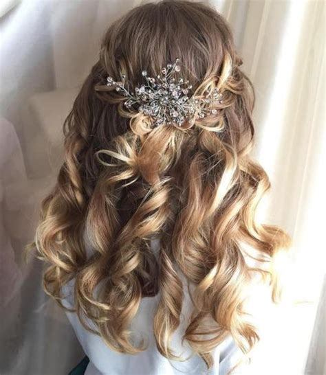 Wedding Hairstyles For Length Hair Half Up by Half Up Half Wedding Hairstyles 50 Stylish Ideas