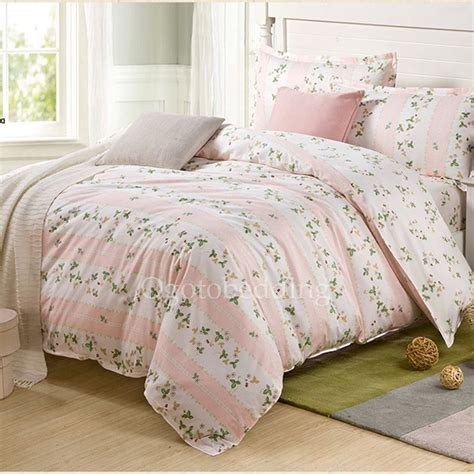 teen floral bedding country peach pink floral romantic cheap teen bedding sets