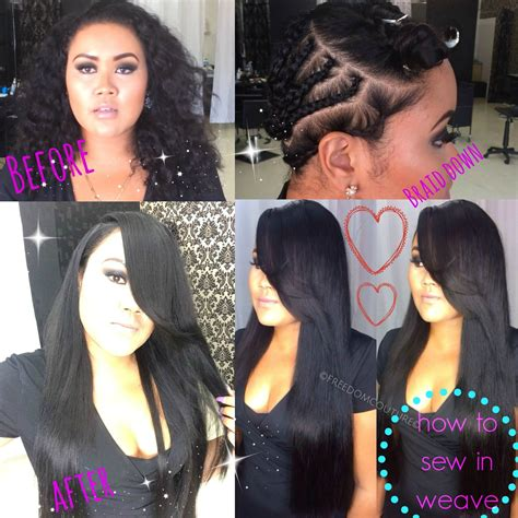weave with side parts how to install 3 bundles for a leave out weave deep side