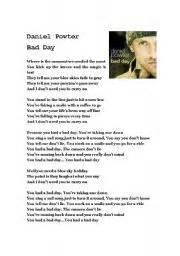 Bad Day Lyrics Daniel Powter Bad Day Daniel Powter