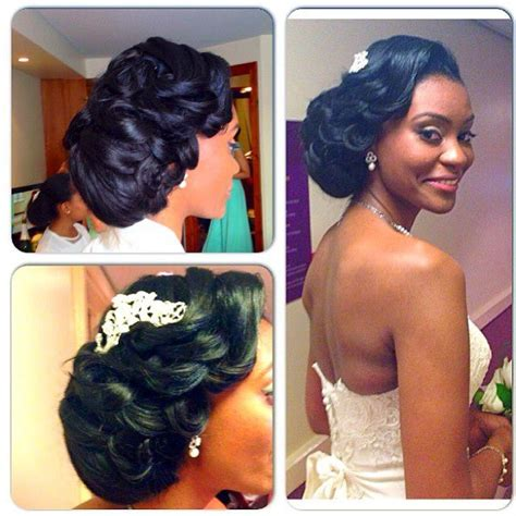 Black Wedding Hairstyles For Brides by Wedding Bridal Hairstyles For Black Brides