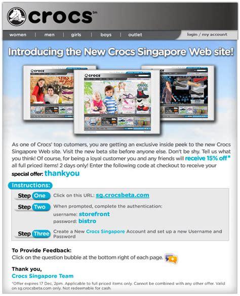 Crocs Gift Card Discount - crocs new online store promo great deals singapore