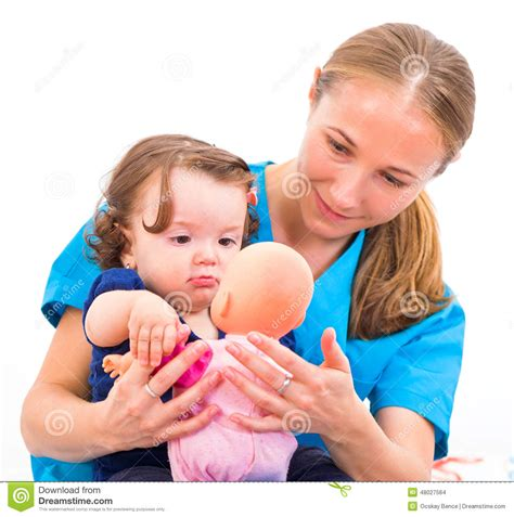 Baby Sitter by Adorable Baby And Stock Photo Image 48027564