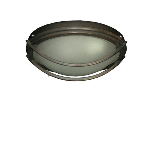 Low Profile Ceiling Light Troposair 163 Low Profile Rubbed Bronze Indoor Outdoor Ceiling Fan Light 178 The Home Depot