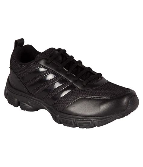 black leather sports shoes bng black synthetic leather sport shoes price in india