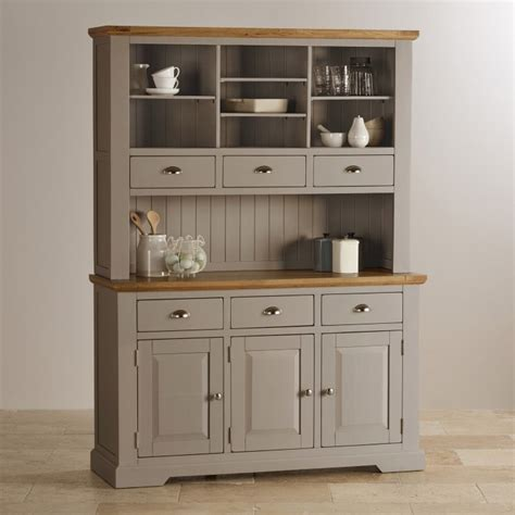 oak and light grey painted large dresser