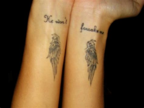 angel wings quote tattoo 28 elegant angel wings tattoos on wrists