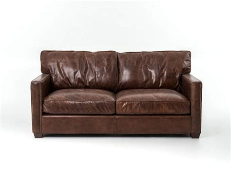 aged leather sofa liesel sofa distressed cognac leather