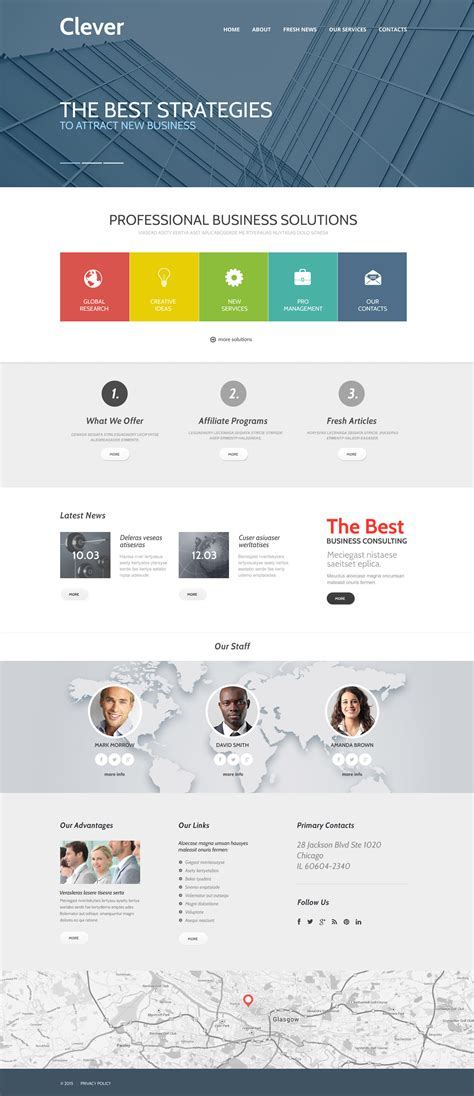 responsive business website templates business responsive website template 57952