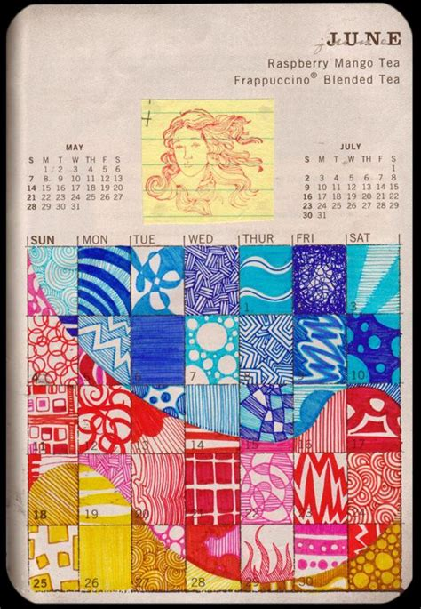 the doodle calendar oh boy now i want to do this to an calendar page