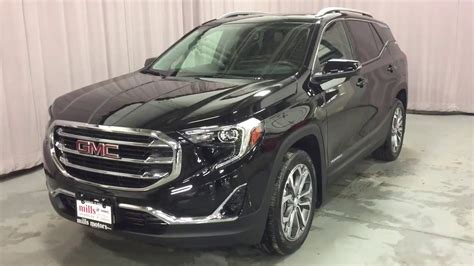 gmc terrain 2018 black 2018 gmc terrain awd slt liftgate sunroof black