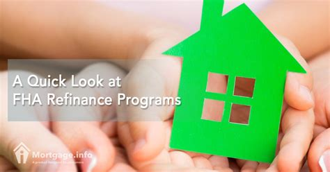 Fha Loan Number Search 2017 A Look At Fha Refinance Programs Mortgage Info