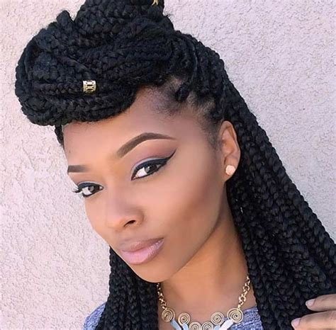 box braids cute styles to the side 51 hot poetic justice braids styles braided half updo