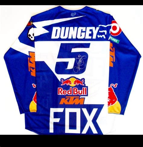 signed motocross jersey race worn signed ryan dungey jersey and nick wey moto
