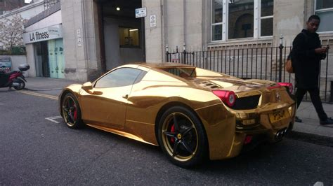 cars ferrari gold riyadh al azzawi s gold ferrari turns heads in kensington