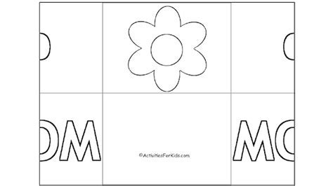 simple mothers day card activities with templates for 6th graders folded s day card activity for