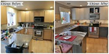 Repainting Kitchen Cabinets Before And After Painted Kitchen Cabinet Ideas Before And After Kitchen Crafters