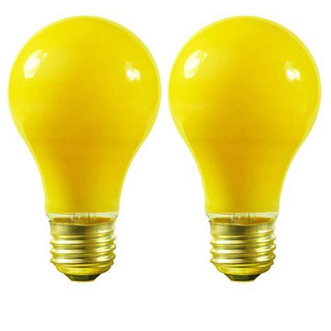 candelabra bug light bulbs satco s3939 100 watt yellow bug light