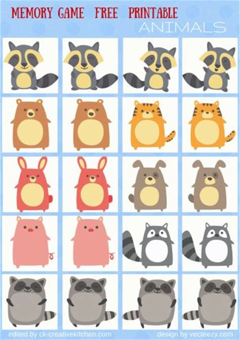 printable animal memory game animals memory game free printables creative kitchen
