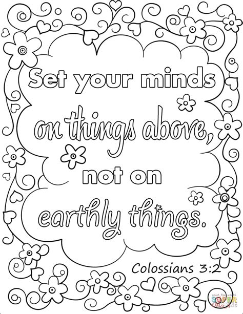 Coloring Pages Of Things by Set Your Minds On Things Above Not On Earthly Things