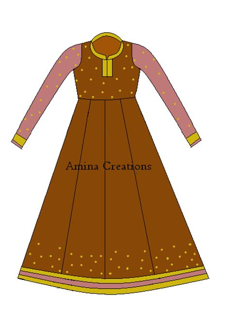 design dress cutting and stitching amina creations how to stitch anarkali suit with panels