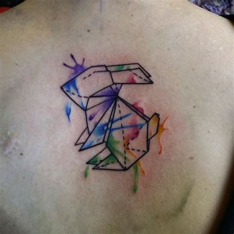 watercolor tattoo origami 80 best inked images on