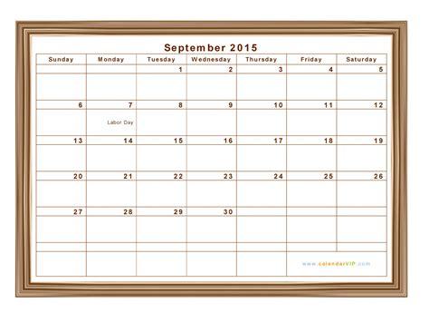 Calendar 2015 September Printable September 2015 Calendar Blank Printable Calendar