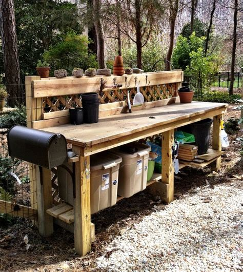 pallet garden work bench 28 best images about garden potting station benches on