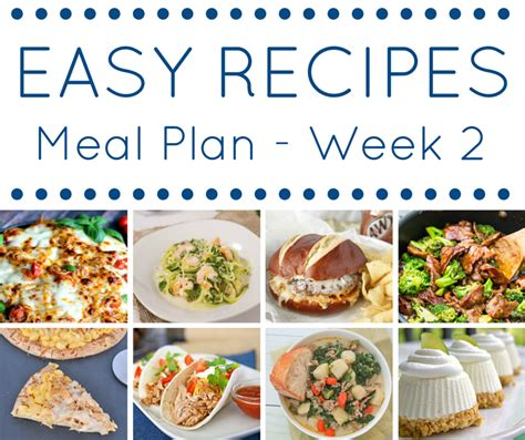 easy recipes for dinner for 6 the easy dinner recipes meal plan week 2 domestic