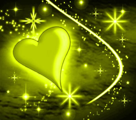 Yellow Heart With Plasma Stars Background 1800x1600 ... Yellow Hearts Wallpaper